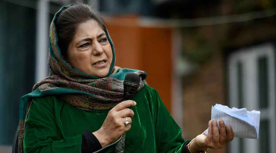 """Former chief minister Mehbooba Mufti said """"such brazen measures reinforce the need of people of all three provinces of J&K to fight united."""""""