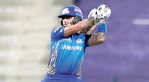 Man of the Match Suryakumar Yadav during his unbeaten 43-ball 79 against Royal Challengers Bangalore in Abu Dhabi on Wednesday.
