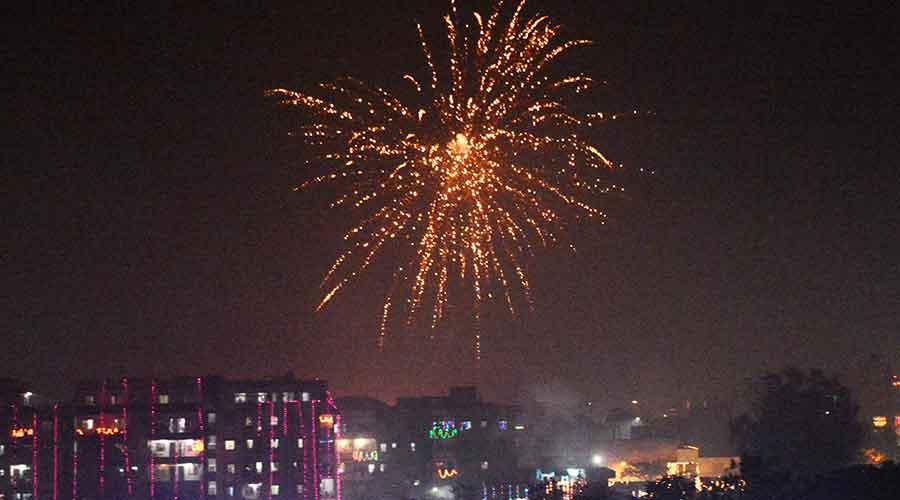 Fireworks on Diwali night at Sakchi in Jamshedpur last year.