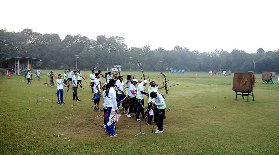 The archery ground at JRD Tata Sports Complex in Jamshedpur where the trials will be held.