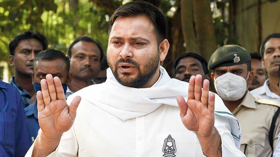 Tejashwi Yadav in Patna  on Thursday.