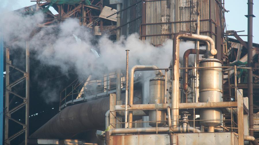 A sugar mill factory in Uttar Pradesh, India.