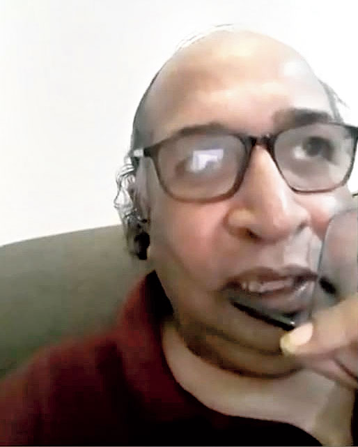 Shibashish Bhattacharyya speak at the webinar
