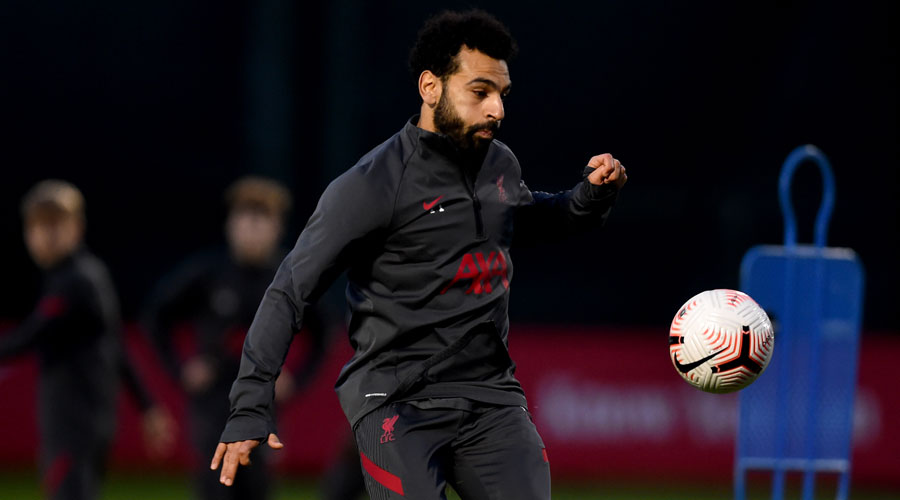Liverpool's Mohamed Salah during a practice session on Thursday.