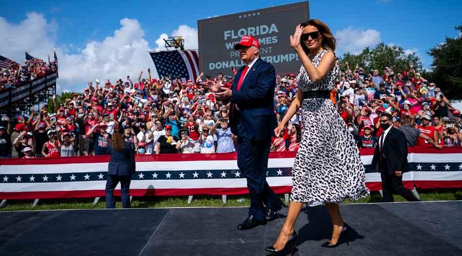 Trump focused on future, assures Melania