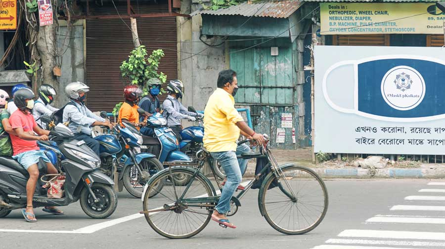 The city police had on June 9 given cyclists this permission based on a decision taken by the state cabinet. The order was in force till August 31.