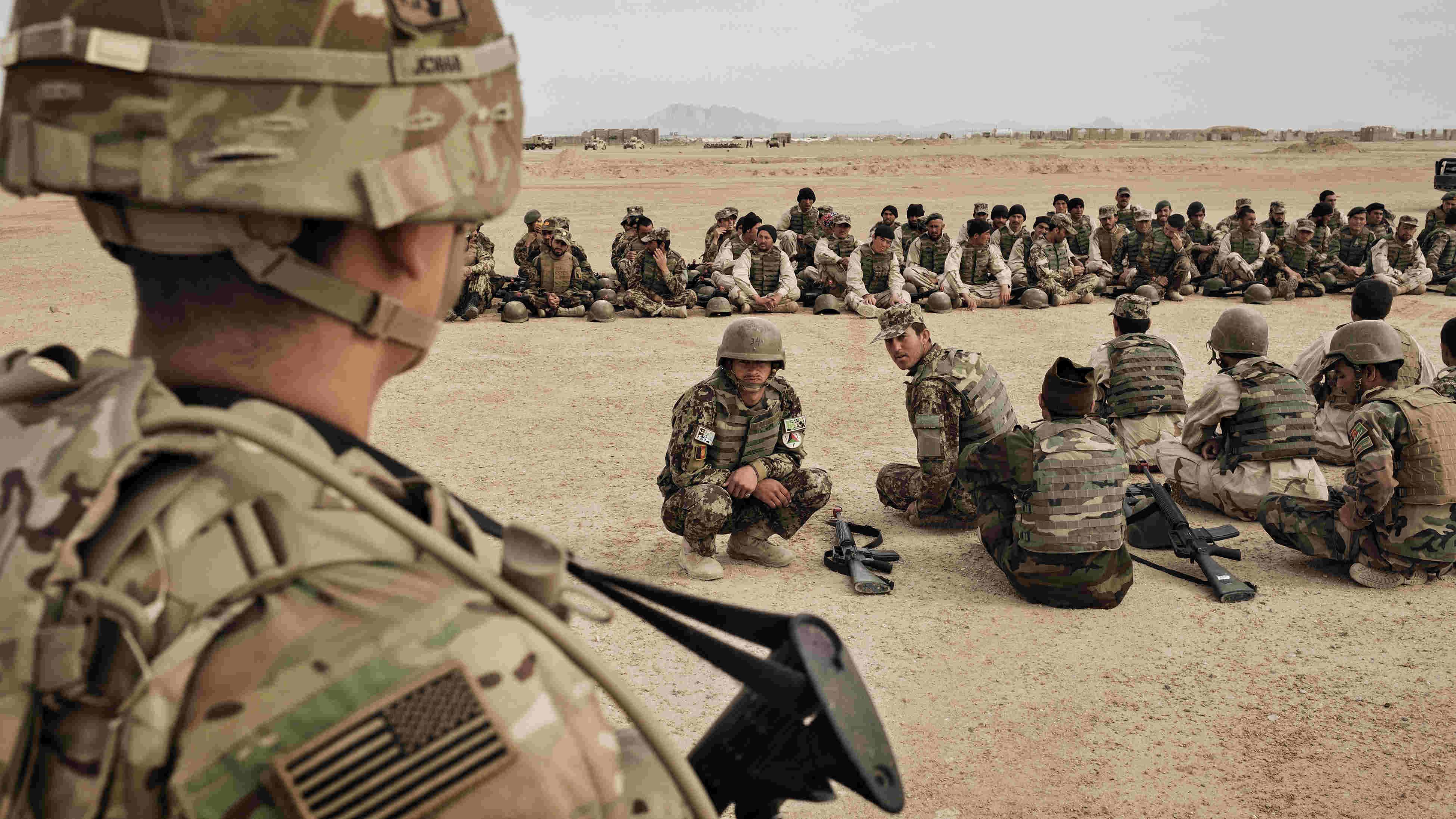 US troops in Afghanistan.