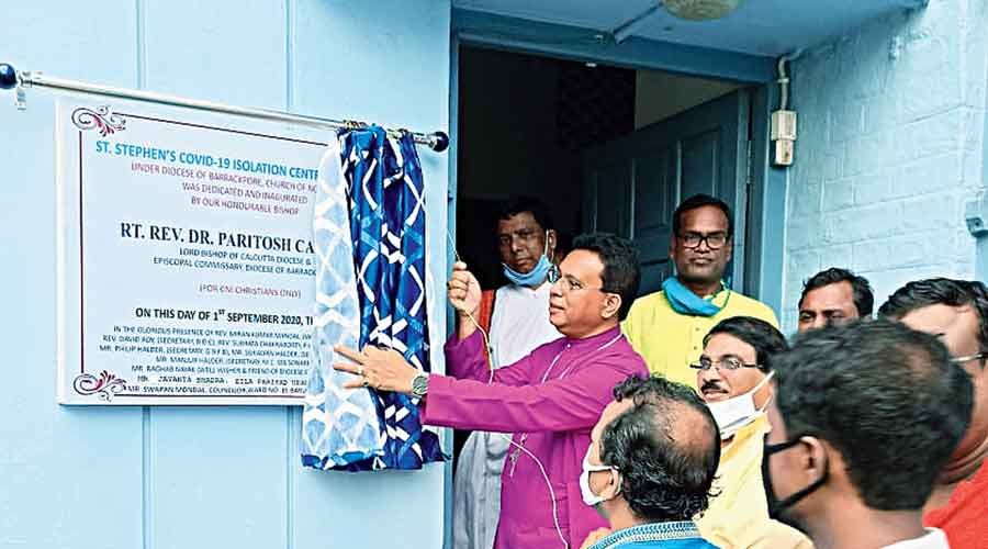 The isolation centre opened by the Church of North India (CNI) on Tuesday