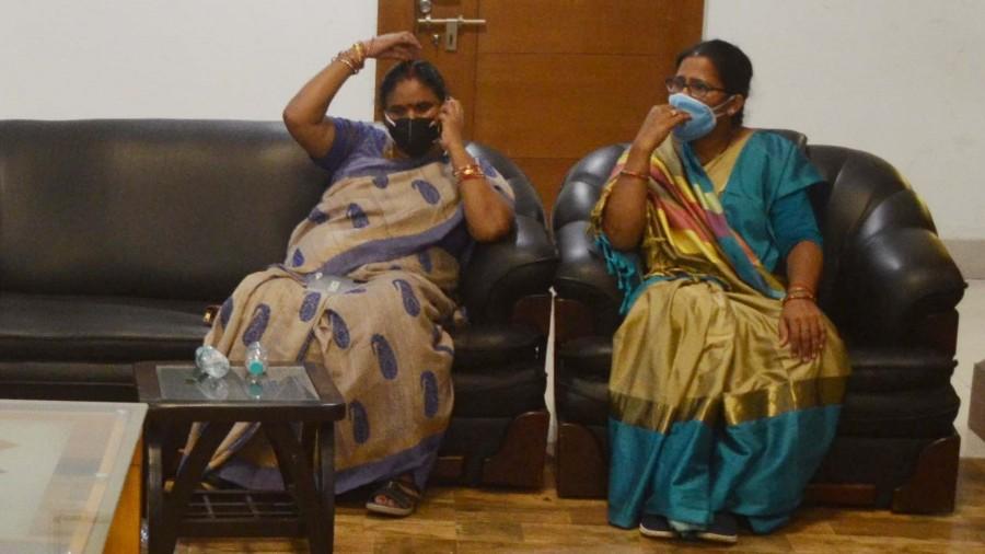 RJD MLA Samta Devi in quarantine at the state guest house Morabadi in Ranchi.