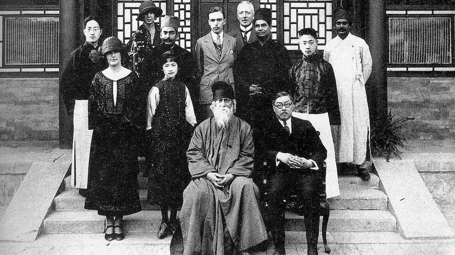 Rabindranath Tagore during his visit to China in 1924