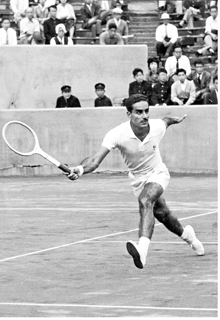 Naresh Kumar at a Davis Cup match in Tokyo