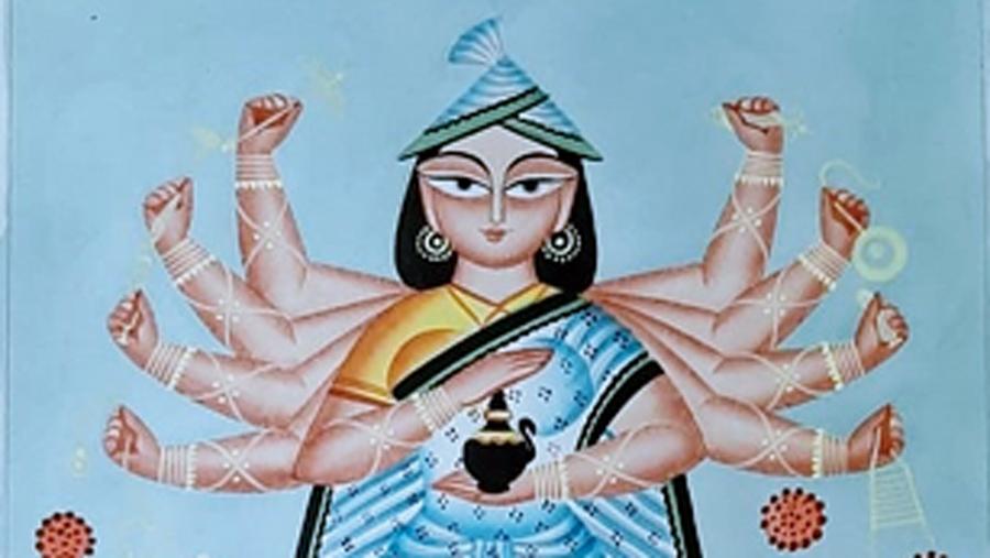 An artwork by Anwar Chitrakar.