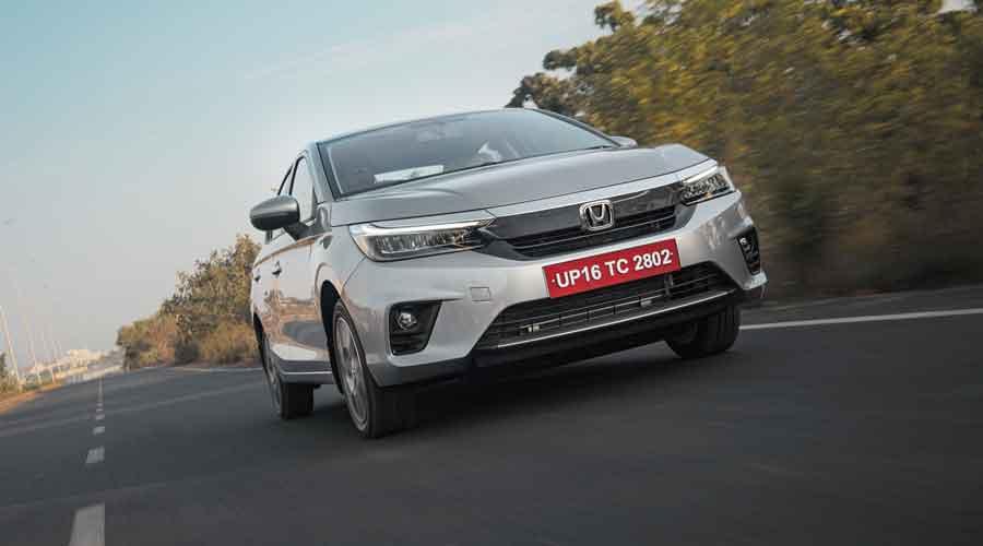 Honda's petrol-powered fifth generation City sedan