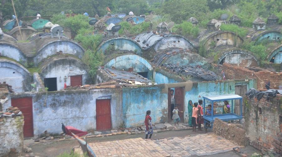 Kujuma basti, from where 79 families will be rehabilitated soon.