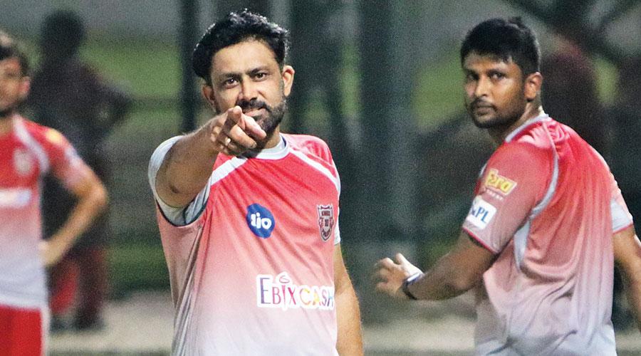 Kings XI Punjab coach Anil Kumble during training.