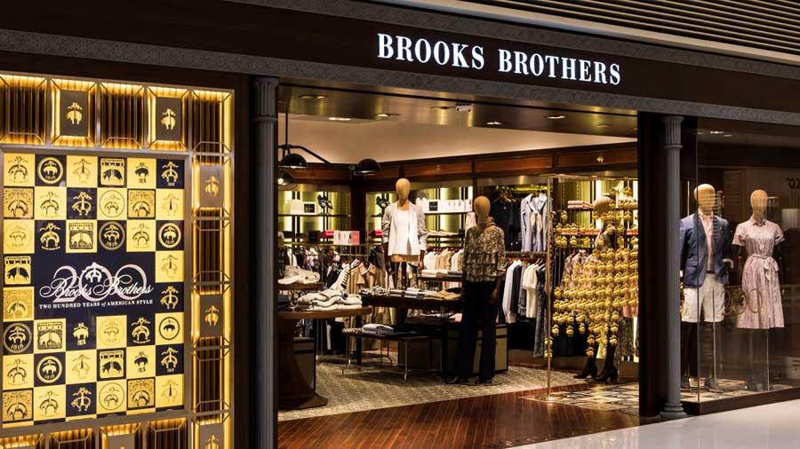 A Brook Brothers shop in Hong Kong.