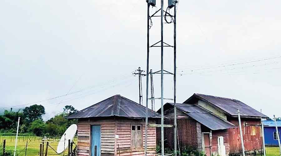 A mobile tower in Vijoynagar.