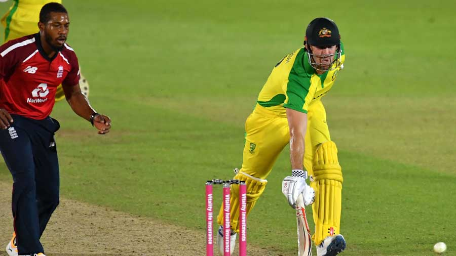Finch and his men avoided a whitewash as they survived a mid-innings wobble to beat England by five wickets in the final T20I here on Tuesday and regain their top ranking in the game's shortest format.