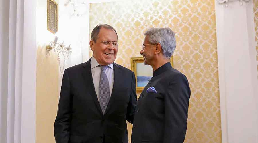 Foreign minister S Jaishankar meets his Russian counterpart Sergey Lavrov in Moscow on Wednesday