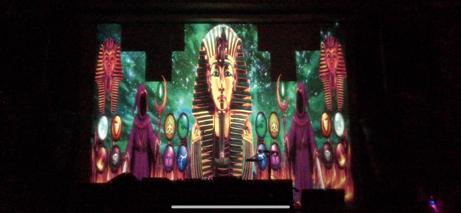 VJ Addy在Roxy的埃及主题视觉作品