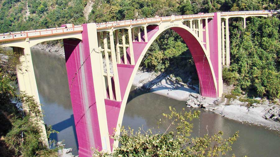 The Coronation Bridge at Sevoke over the Teesta, that connects the Dooars with Siliguri