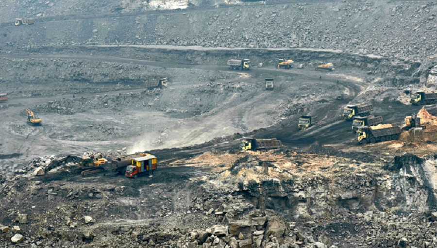 An open cast mine of Bharat Coking Coal in Jharia, Dhanbad.
