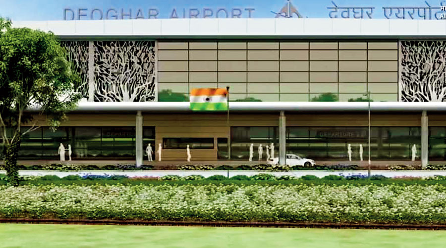 A view of the Deoghar airport.
