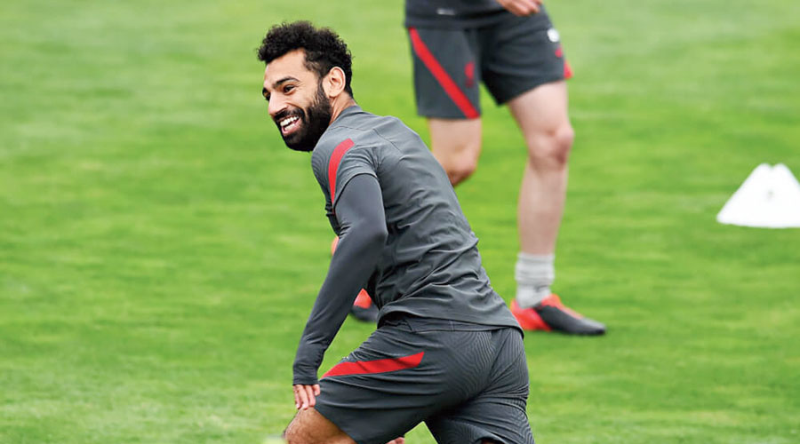 Mohamed Salah during a training session.