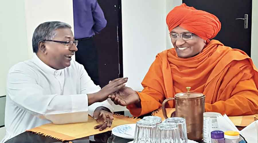 Fr. J. Felix Raj with Swami Agnivesh