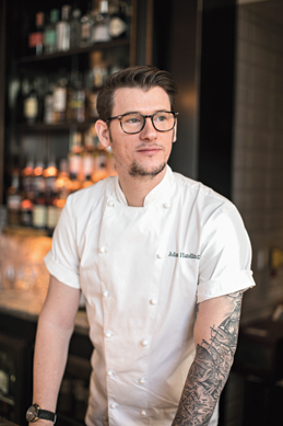 Adam Handling is the man behind the iconic Belmond Cadogan Hotel's stunning menus, which include parmesan madeleines with chicken and nori butter