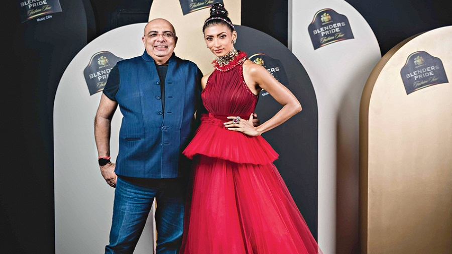 Tarun Tahiliani with Lakshmi Rana