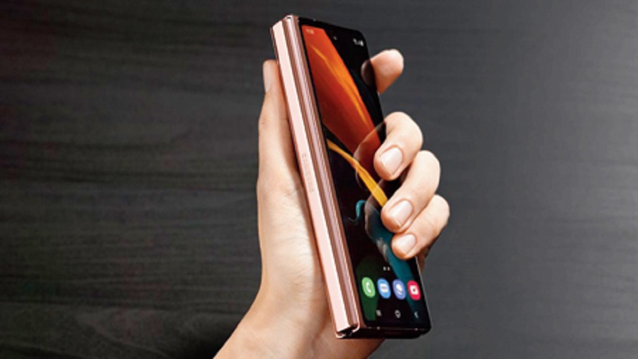 The Samsung Galaxy Z Fold2 5G offers a 7.6-inch main screen when unfolded