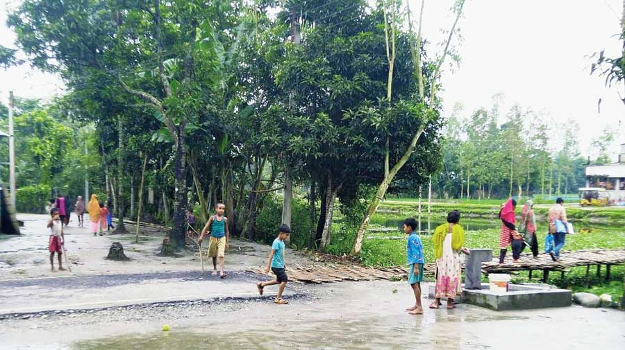 Poaturkuthi, the erstwhile Bangladeshi enclave that is an Indian village now, and which  has managed to stay Covid-free so far.