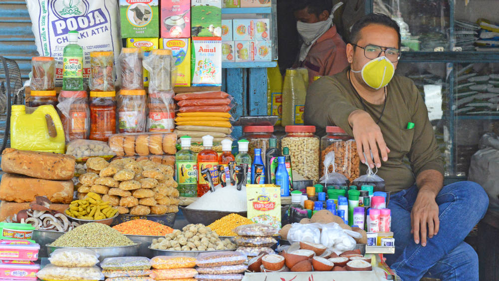A shopkeeper in Beawar, Rajasthan.