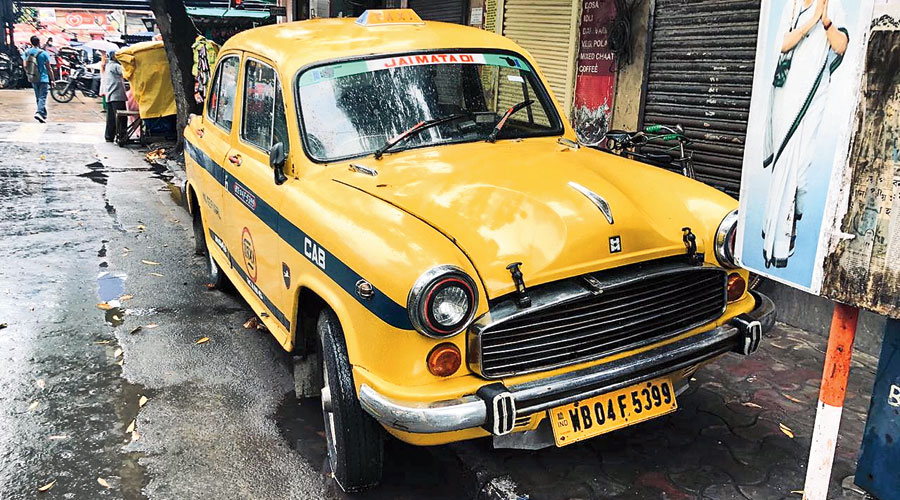 The yellow taxi seized by police