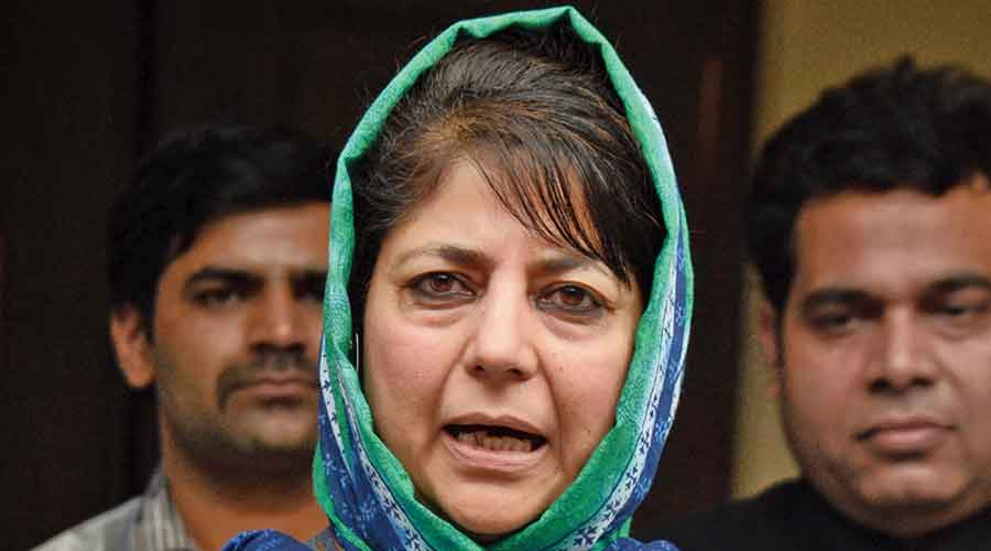 """Iltija Mufti, whose mother and PDP chief Mehbooba Mufti (in picture) is in detention, said it was shameful that """"cabinet ministers are using Parliament as a forum to disseminate lies""""."""