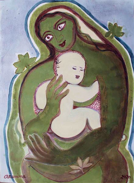 Artwork by Arunima Choudhury for Emami Art