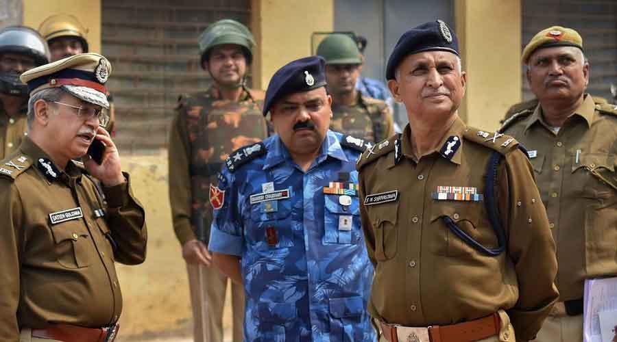 Delhi police commissioner SN Srivastava inspects Johar area of the riot-affected in northeast Delhi
