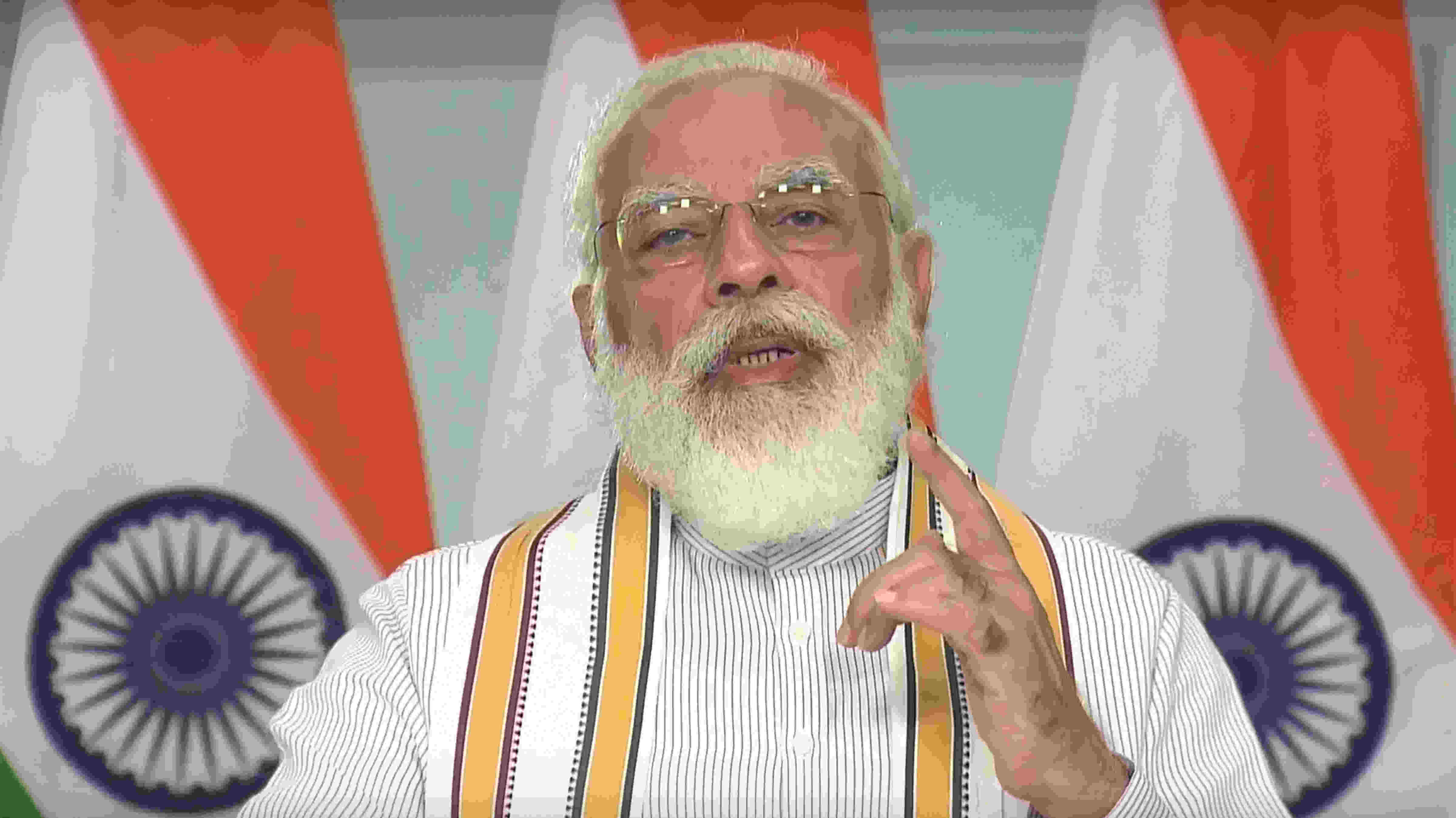 Prime Minister Narendra Modi addresses a conclave on 'School Education in 21st Century' under the National Education Policy (NEP) 2020, through video conferencing, in New Delhi, Friday, Sept. 11, 2020.