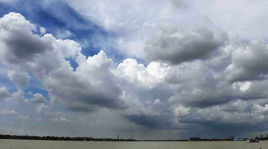 Clouds hang over the Hooghly on Wednesday.