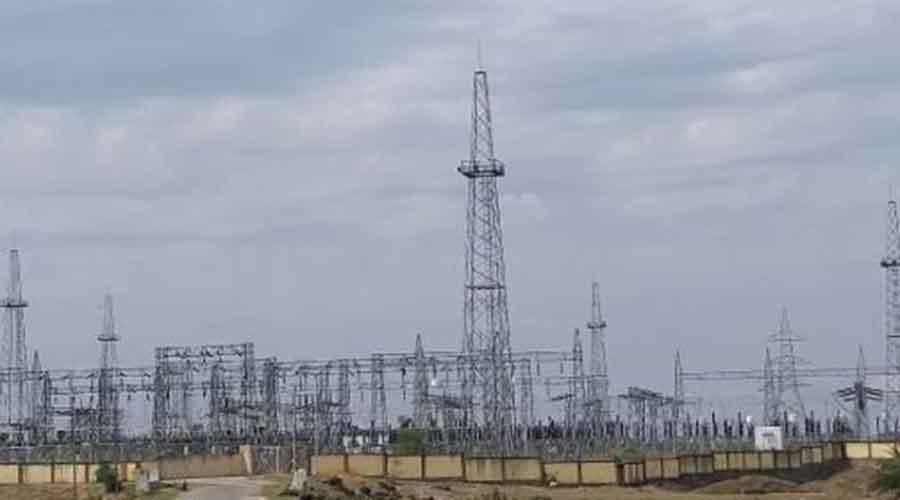 Chorkari power grid substation in Chatra.