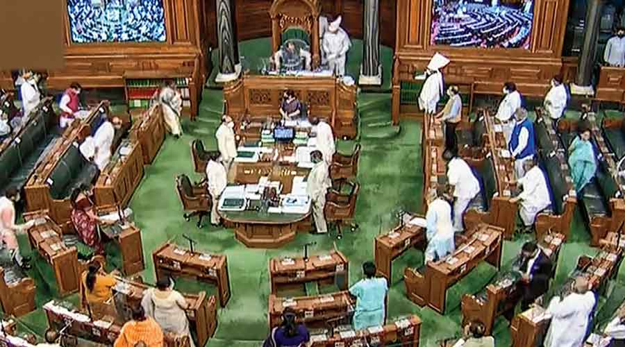 The monsoon session of Parliament underway on Friday
