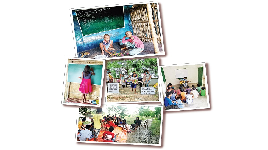 Class Act: Since July, Prithibir Pathshala has been teaching 810 children across 21 makeshift schools.