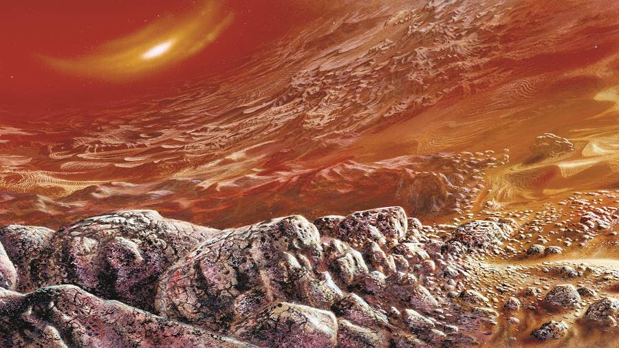 An artist's impression of the surface of Venus