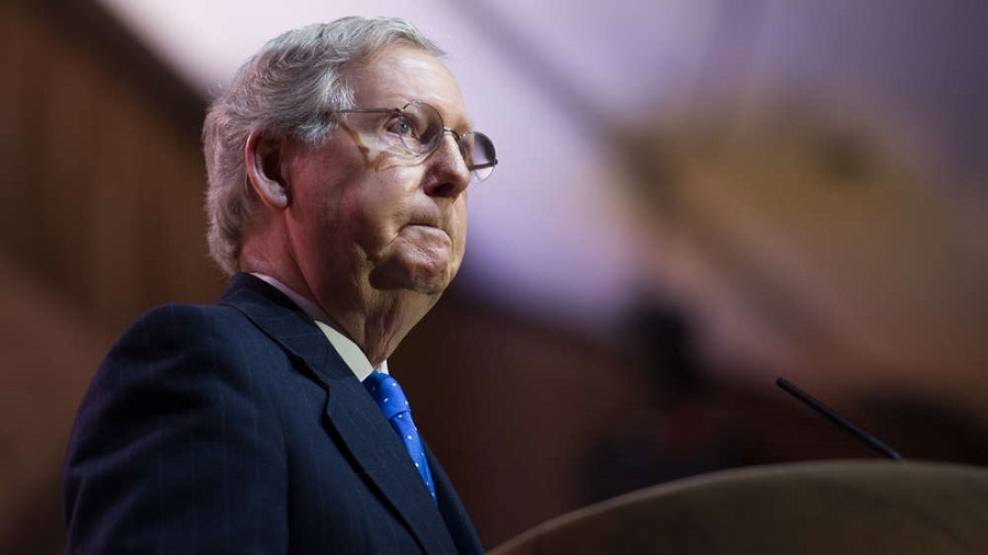Senator Mitch McConnell (R-KY) at the Conservative Political Action Conference in March 2014.