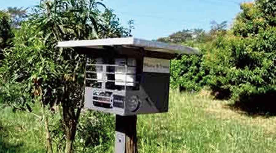 An Aniders device at a forest in Uttarkhand