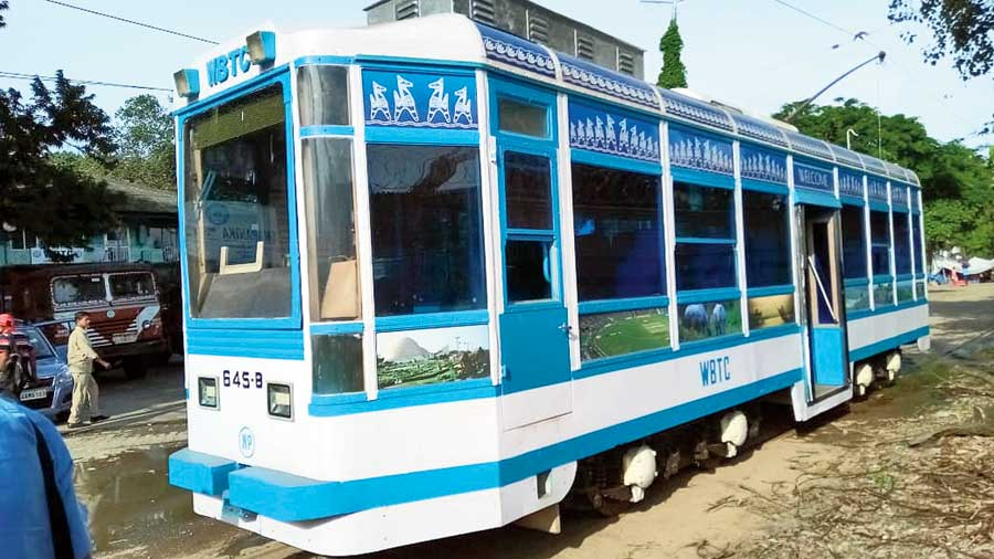 The AC tram on the Shyambazar-Esplanade route that will have a library