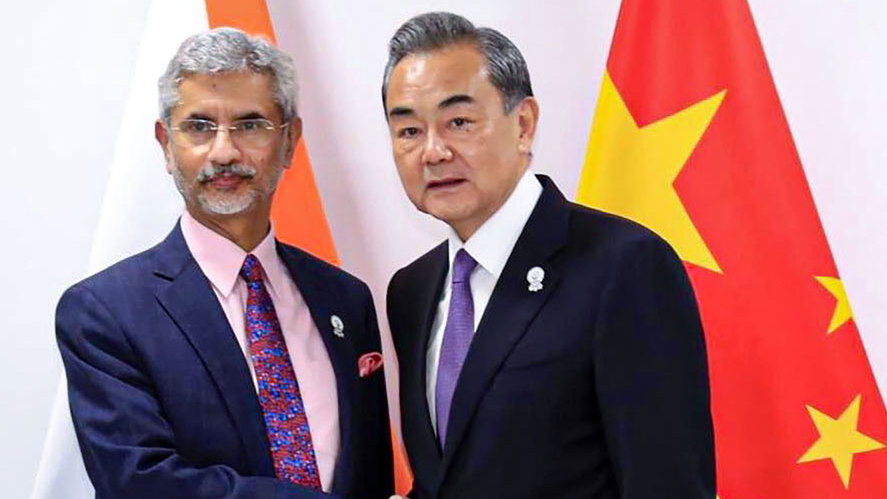 Foreign minister S Jaishankar shakes hands with his Chinese counterpart Wang Yi during a meeting at ASEAN Thailand 2019 in Bangkok on August 1, 2019.