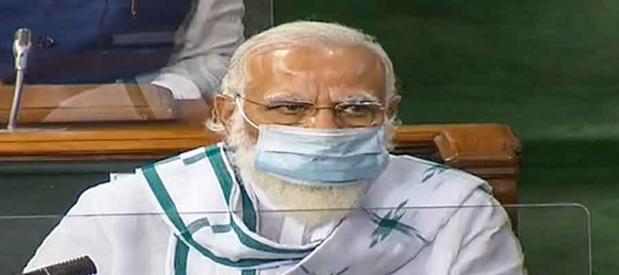 Prime Minister Narendra Modi in the Lok Sabha on Wednesday