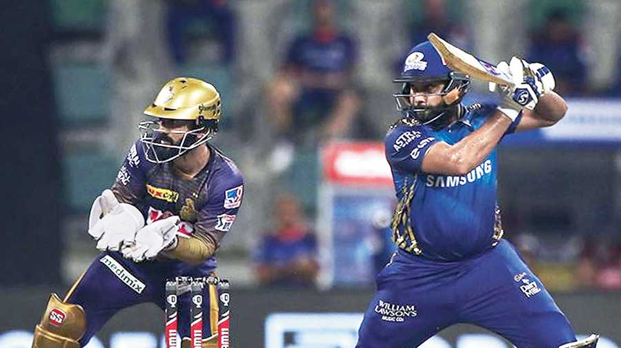 MoM Rohit Sharma during his 54-ball 80 against Kolkata Knight Riders.